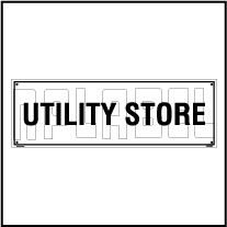 160193 Utility Store Name Plate