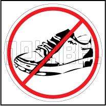 160196 No Shoes Sign Sticker