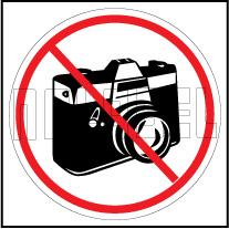 160198 No Camera Sign Sticker