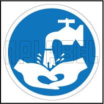 162509 Hand Washing Sign Sticker