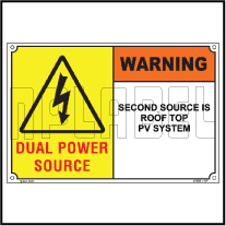 162521 Solar Label with Dual Power Supply