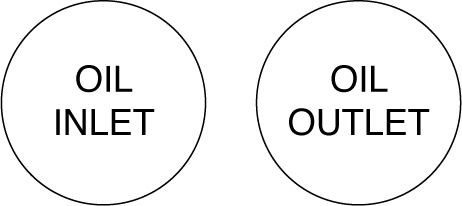 162541DQ OIL Inlet Outlet Labels