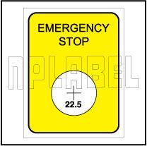 162556 Emergency Stop Labels