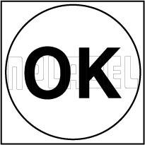 210094 OK Round Sticker