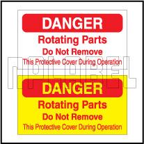 420008 Danger - Rotating Parts Caution Label