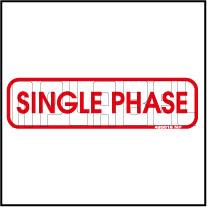 420016 Single Phase Indication Sticker