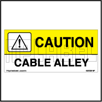 420029 Caution - Cabel Alley Labels & Stickers