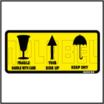 420036 Fragile/Keep dry/Side Up Shipping Stickers