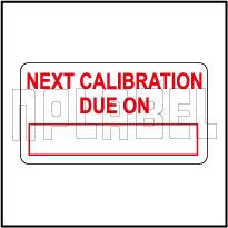 530552 Sticker - Next Calibration Due on