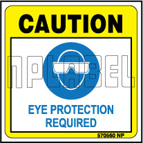 570560 Caution Sticker Wear Eye Protection Labels