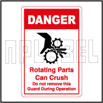 570569 Rotating Parts Caution Sticker & Labels