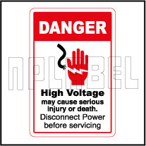 570570ML High Voltage May Cause Death Caution Labels