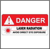 570573 Sticker Label - Avoid Laser Radiation