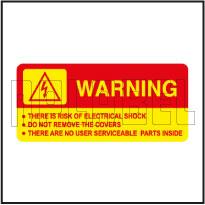 570574 Risk of Electric Shock Warning Signs Labels