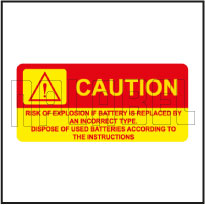 570576 Dispose Of Used Batteries Labels & Stickers