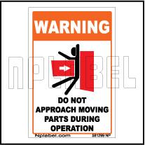 581299 Do Not Approach Caution Sticker