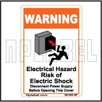 581300 Electrical Hazard Caution Stickers