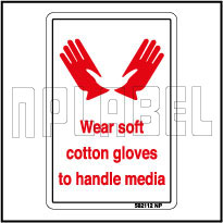 582112 Wear Soft Cotton Gloves Stickers