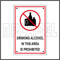 582720 Drinking Prohibited Area Sing Name Plate