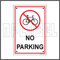 582722 No Parking Sign Name Plate