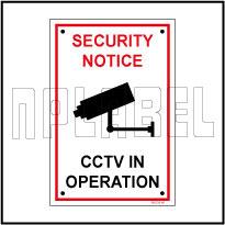 582728 CCTV In Operation Caution Sign Sticker