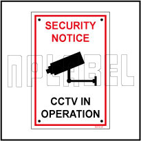 582728 CCTV In Operation Caution Sign Metal Label & Sign