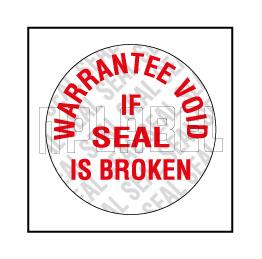 590659 Warantee Void Seal Sticker