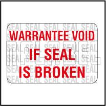 590660 Warantee Void Seal Sticker