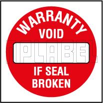 590661 Warantee Void Seal Sticker