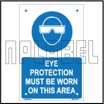 590739 Eye Protection Name Plates
