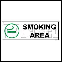 592504 Smoking Area Sign Name Plate