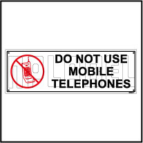 592505 Do Not Use Mobile Telephones Sticker