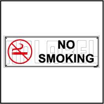 592506 No Smoking Sign Name Plate