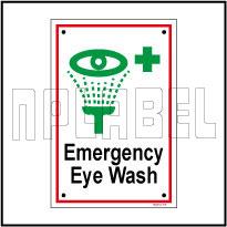 592512 Emergency Eye Wash Name Plate