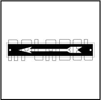 592958 Direction Arrow Metal Labels