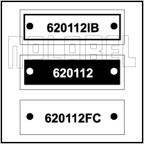 620112 - Control Panel Labels Size 30 x 10mm