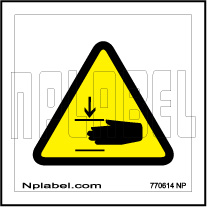 770614 Flying Knife Warning Sign Stickers & Labels
