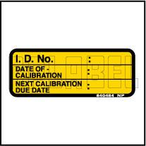 840484 Calibration Detail Sticker