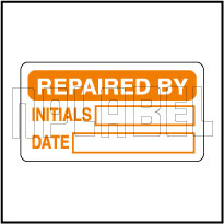 840723 Repaired By Sticker Label