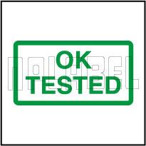 910599 Quality Control - Tested Ok Sticker