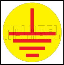 940007 Earthing Round Sticker