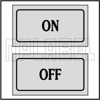 940133 On - Off Control Panel Sticker (SET)