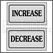 940135 Increase Decrease Stickers