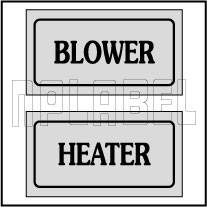 940163 Blower Heater Stickers