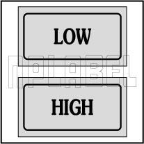 940165 Control Panel Sticker - Low/High