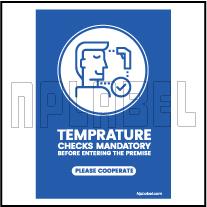 CD1904 Temperature Check Signages