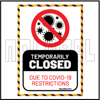 CD1917 Temporarily Closed for  Covid19  Signage