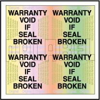 HG0006 Warranty Void Hologram Sticker