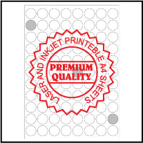 IL23088R Multipurpose Round Labels A4 Sheets