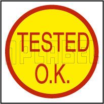 K20011 Tested O.K. Round Sticker